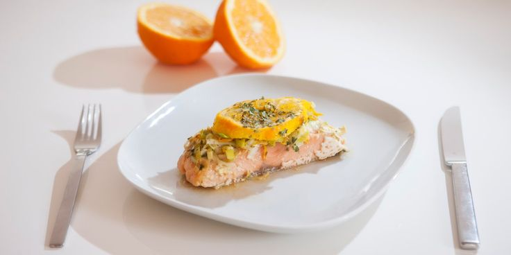 Σολωμός με πορτοκάλι