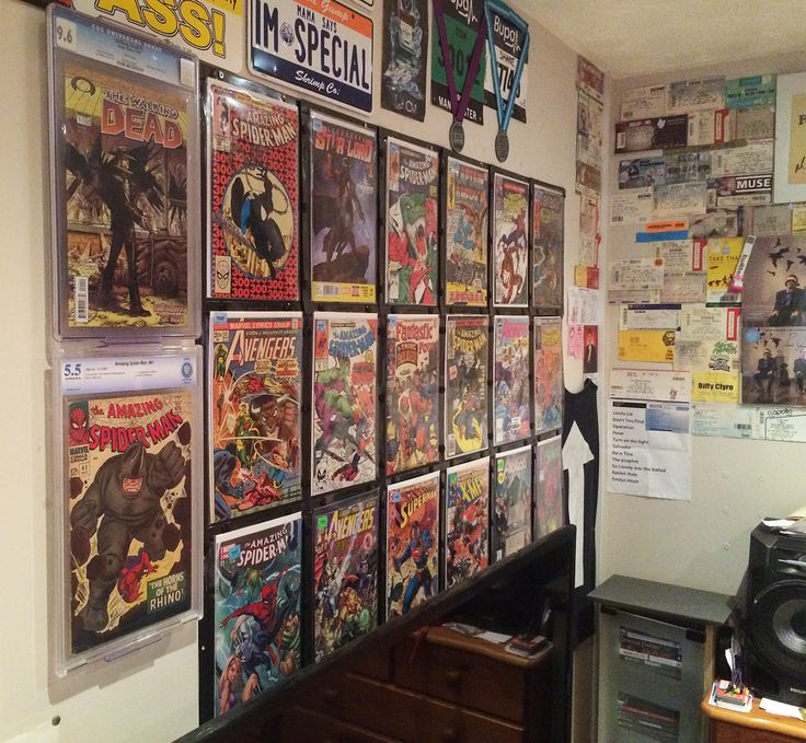 17 best ideas about comic book display on pinterest comic book rooms comic room and comic. Black Bedroom Furniture Sets. Home Design Ideas