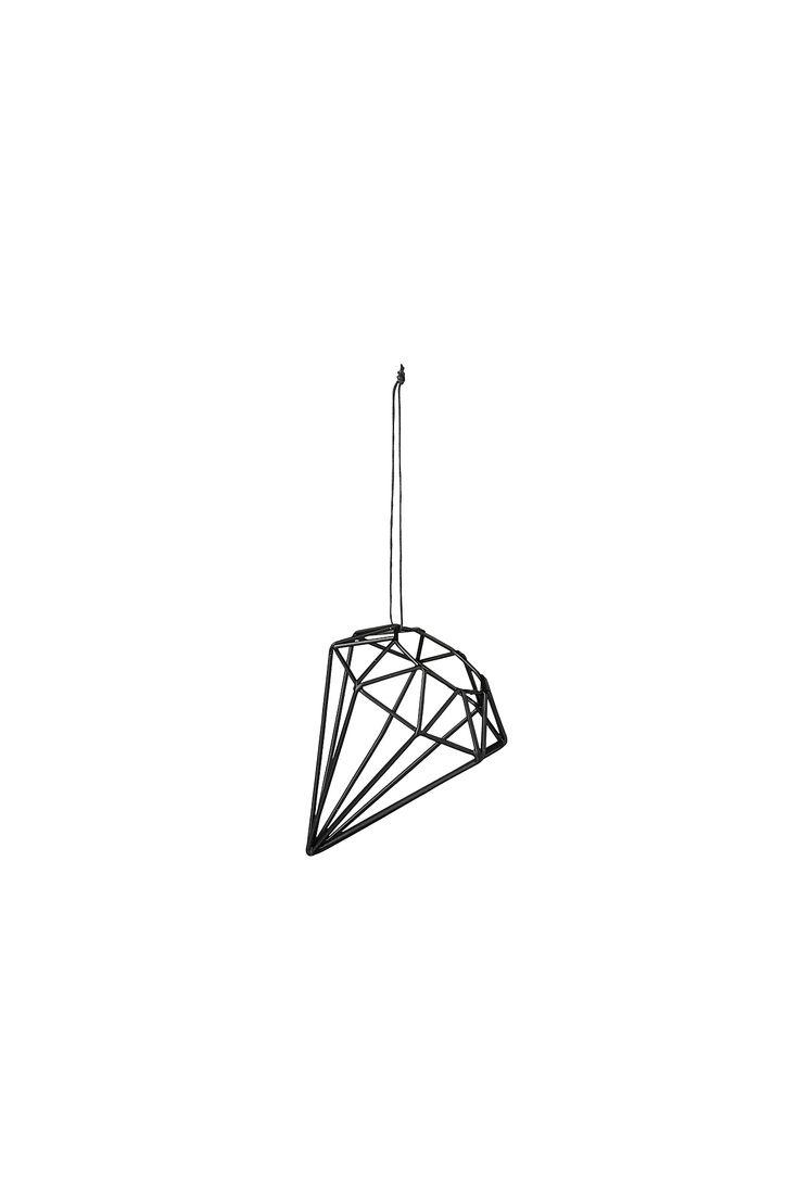 Bloomingville Juldekoration Diamant i färgerna Svart inom Hem - Ellos.se