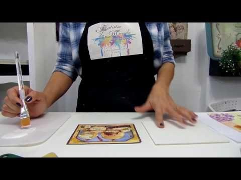Transferência de imagem perfeita! - Decoart Decoupage | Artistas do Mundo - YouTube