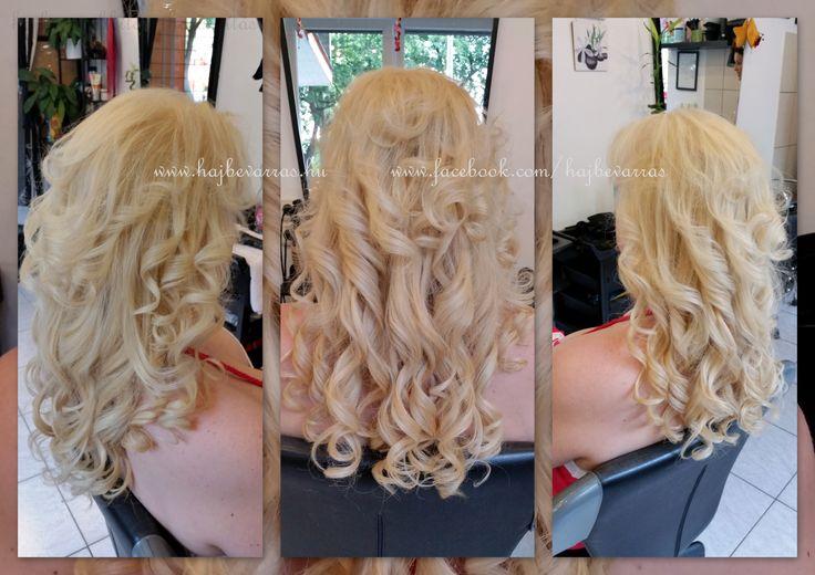 Mikrogyűrűs hajhosszabbítás 50 cm-es európai hajból, festéssel. www.hajbevarras.hu www.fb.com/hajbevarras #hajhosszabbitas #hajdusitas #mikrogyuru