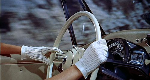 This just makes me think of @Cecilia Bowen (original tag says Vintage car and white gloves are the best way to travel)