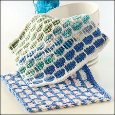 crochet lattice tricot stitch - Google Search