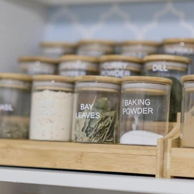 Herb Spice Jars Large 200ml Kitchen Jars Spice Jars Pantry Jars