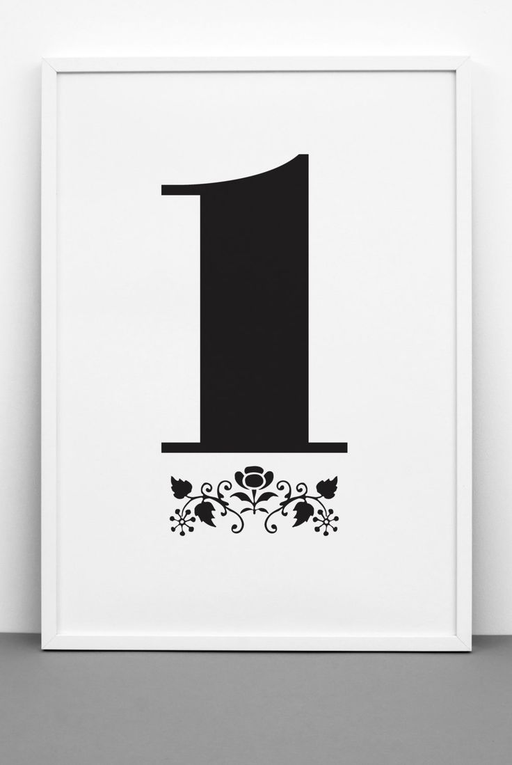 Number 1 print, printable, 0-9 Poster downloadable, scandinavian design, typography, poster, inspirational home decor, wall art, gift by Onemustdash on Etsy