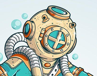 "Check out new work on my @Behance portfolio: ""Skater in scuba gear"" http://be.net/gallery/50116809/Skater-in-scuba-gear"