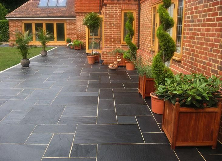 Blue Black Slate Paving Slabs   Natural Patio Stone  New Grey Sawn Garden  Flags