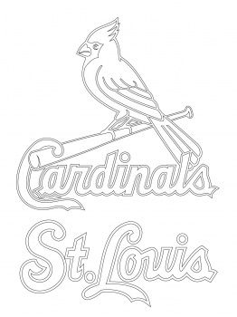Cardinals Fred Bird Coloring Pages | St. Louis Cardinals Logo coloring page