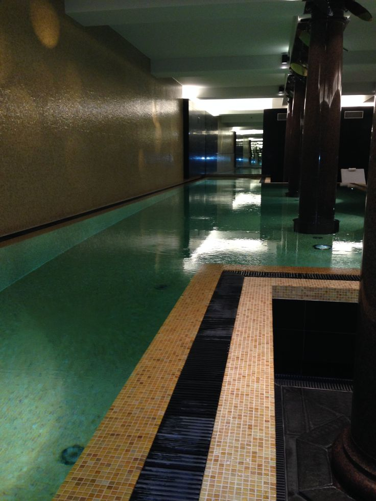 Beautiful pool in the lower level, taking advantage of the historic features of the former bank.   #biztravel #hotels #roccoforte #berlin