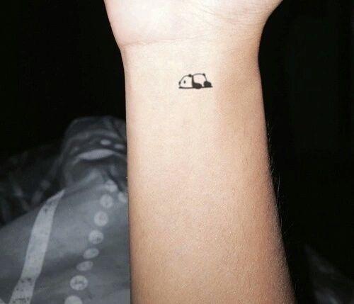 cute panda tattoo
