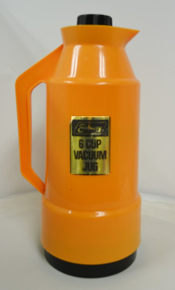 Retro Orange Vacuum Jug by AntiqueRetroVintage on Etsy, $25.00