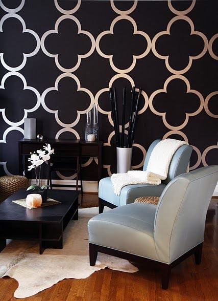 Geometric Pattern Self Adhesive Vinyl Wallpaper D041 by Livettes, $34.00. Living room and dining room walls!