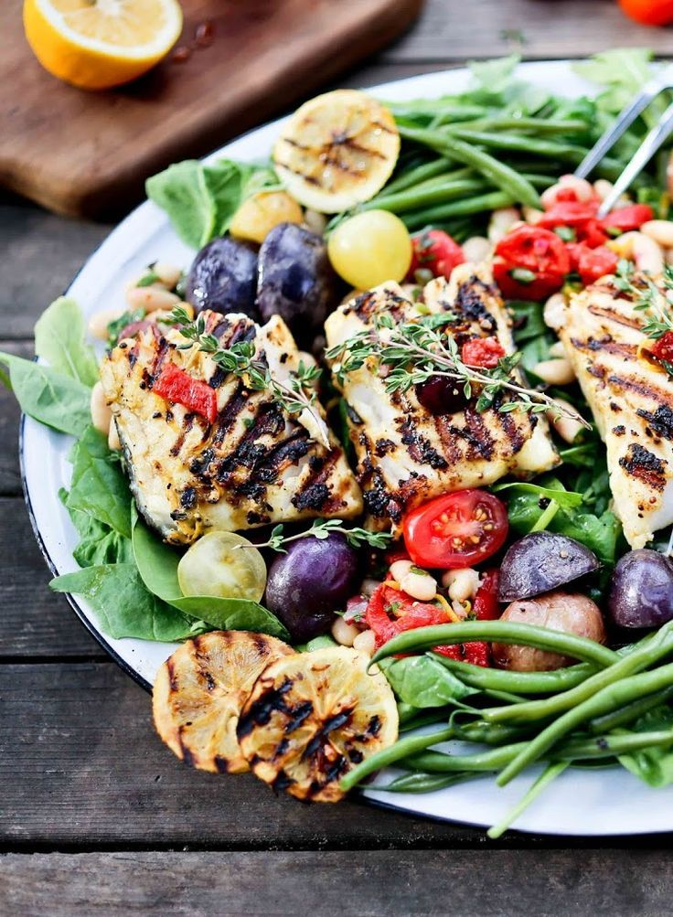 Grilled Nicoise Salad with Fresh Fish