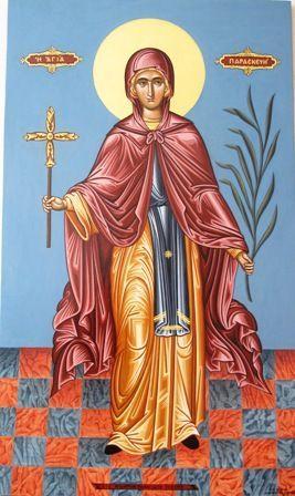Religious icon of Saint Paraskevi.
