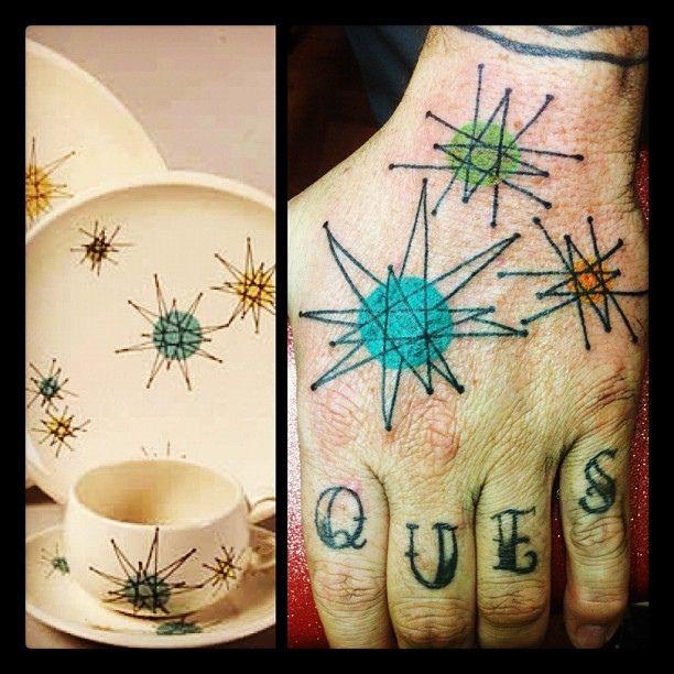 Tattoo Inspired By Franciscan Starburst Dinnerware