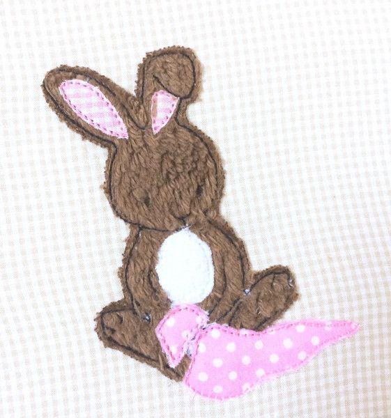 Stickmuster - Hase mit Schnuffeltuch Doodle Stickdatei - ein Designerstück von feinliebshop bei DaWanda