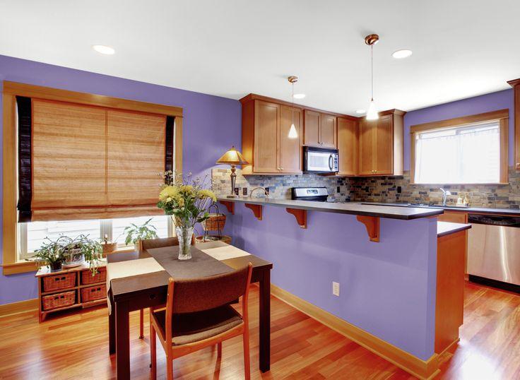 Kitchen in Lavender Flowers