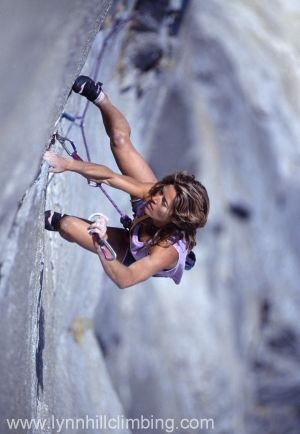 American: Lynn Hill, an amazing rock climber as well as human being. She's now retired, but still hands down one of the best female climbers to ever walk the earth. Awesome woman, check her out, maynee