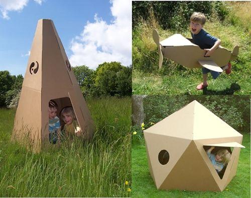 Los bebés aman las cajas para jugar, pero estos juguetes de cartón les encantarán