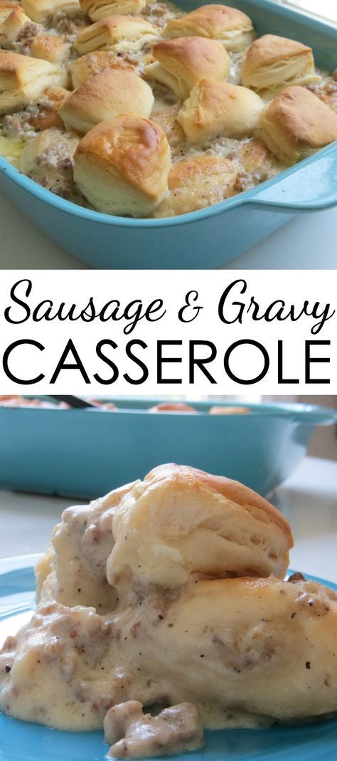 great cold weather food! Here's a great breakfast casserole that's delicious! Sausage and Gravy Casserole…