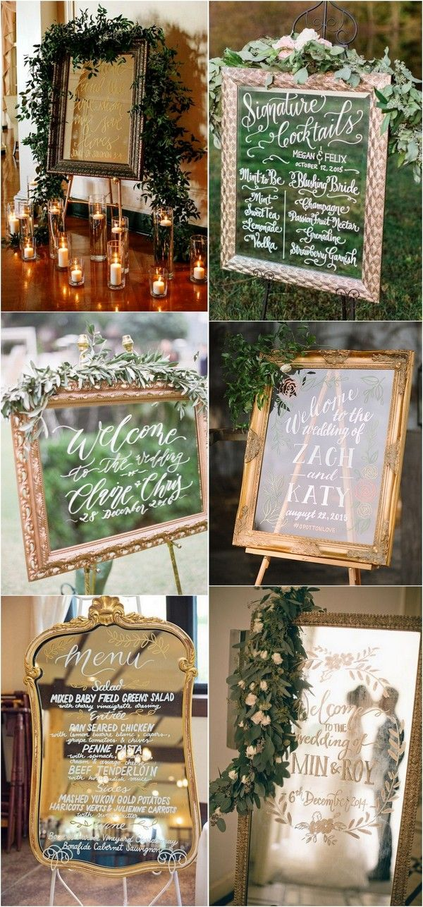 Vintage mirror wedding sign ideas for 2018 #vintageweddings #weddingdecor #weddingideas #weddingsigns