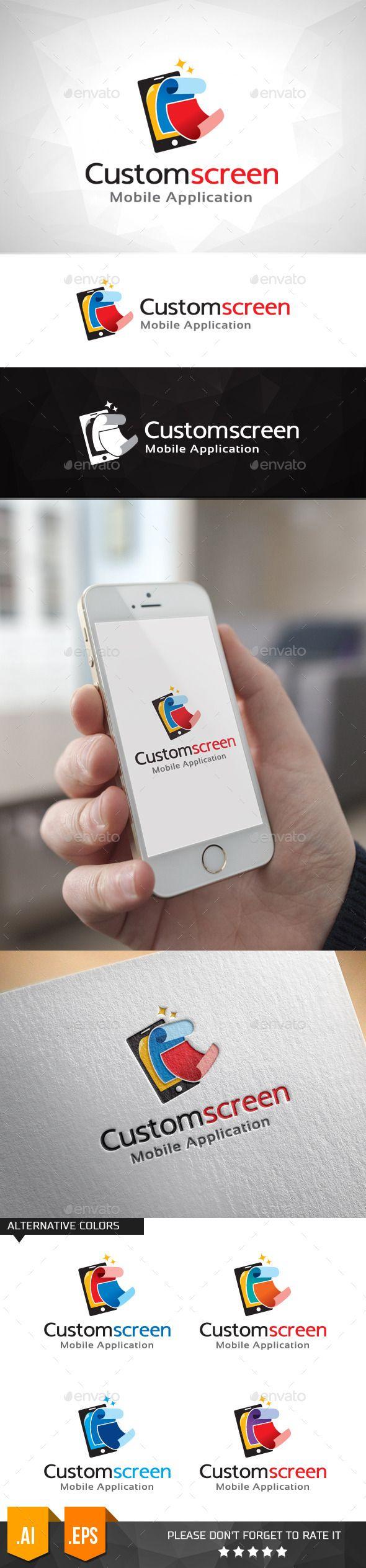 Custom Screen Mobile Apps Logo
