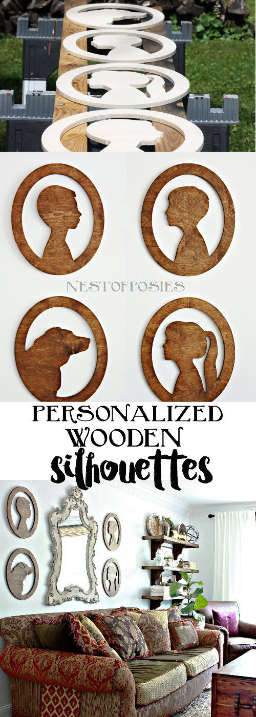 Personalized Wooden Silhouettes