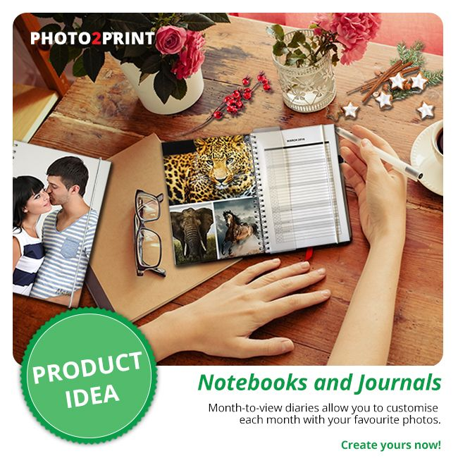 Journey through 2018 with a Photo Notebook or Journal. #writeitdown #notebook #journal
