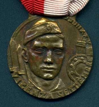 Медаль итальянских добровольцев  (Дивизия Литторио воевала на стороне Франко)