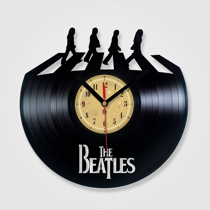 Vinyl Record Clock - The Beatles Abbey road. by TheVinylClocks on Etsy https://www.etsy.com/listing/189709461/vinyl-record-clock-the-beatles-abbey