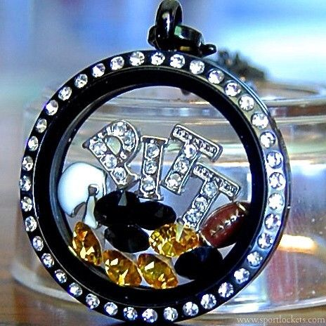 Pittsburgh Steelers football locket necklace – SportLockets.com