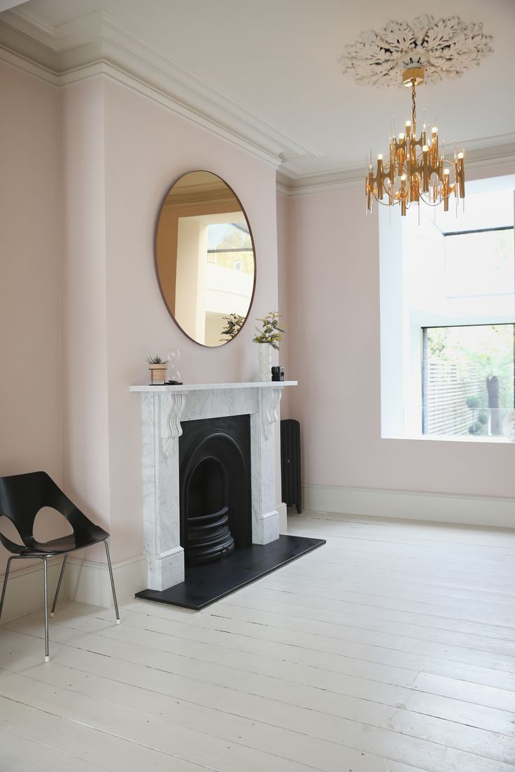 Victorian Living Room Farrow Ball Calamine Walls Scolari Light Harry Bertoia Chair Rose Gold Mir Victorian Living Room Pink Living Room Living Room Paint