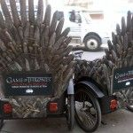 To promote the new HBO original series, Game of Thrones, HBO rolled out a series of buzz worthy outdoor media and branded events across NYC in April 2011. Customized bike displays and a unique mobile advertising campaign was executed to increase awareness around the series' premiere.