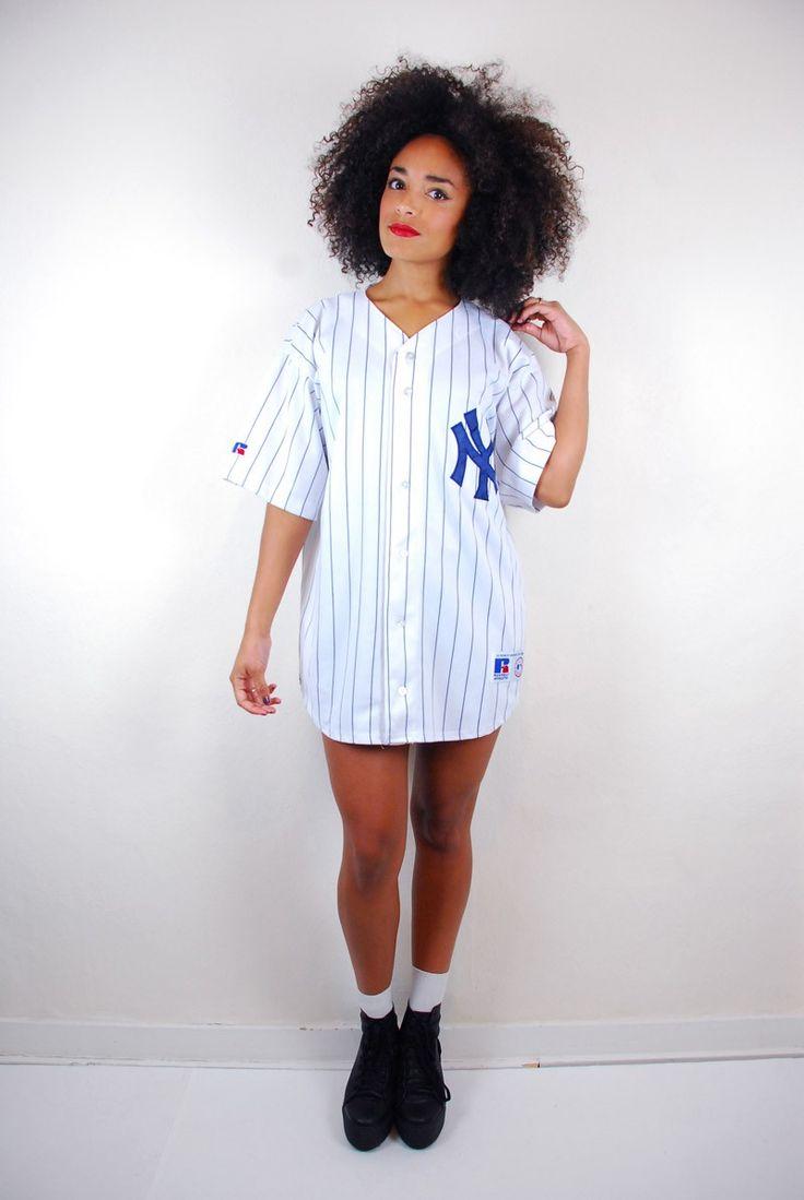 Retro 90 s yankees baseball jersey clothes i luv 2 death for Baseball jersey shirt dress