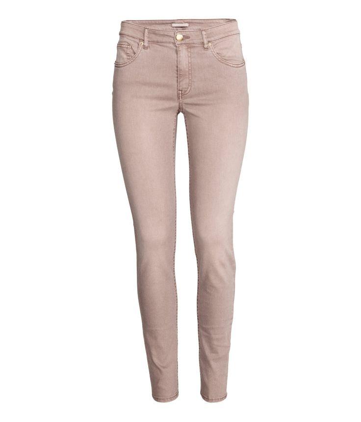 Our favorite 5-pocket pant in powder pink. | H&M Pastels