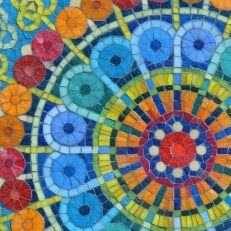 Mandala pared detalle Mural Mosaiquismo                                                                                                                                                     Más