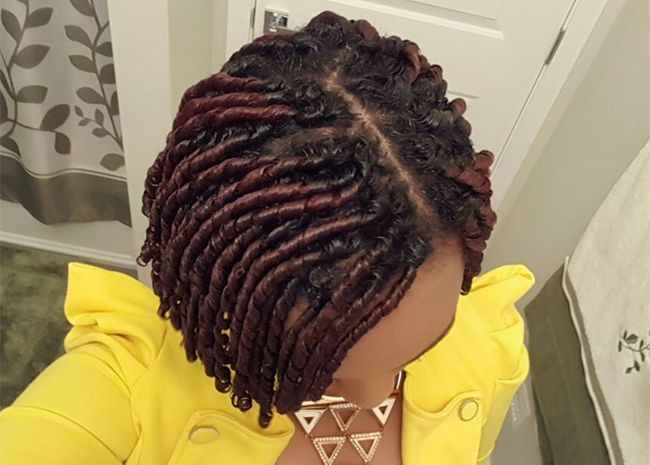 Fingercoil hair style