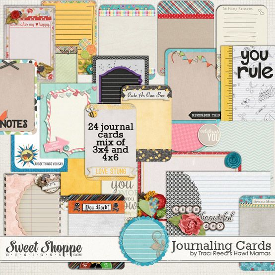 24 Free Project Life Journaling Cards from Traci Reed Designs