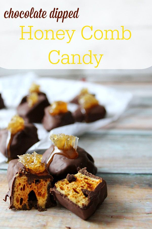 Chocolate Dipped Honeycomb Candy with natural Honey drizzle, topped with real honeycomb. With only six ingredients, this quick recipe is perfect for whipping up a batch of delicious, gourmet candy for serving or gifting. Recipe via @crustcutoff. Honey For The Holidays AD