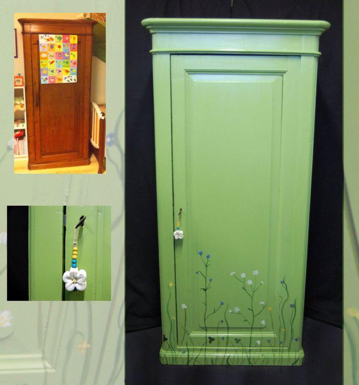 RESTYLE ARMADIO BIMBI. Ecco come reinventare un vecchio armadio con un po' di colore e fantasia.