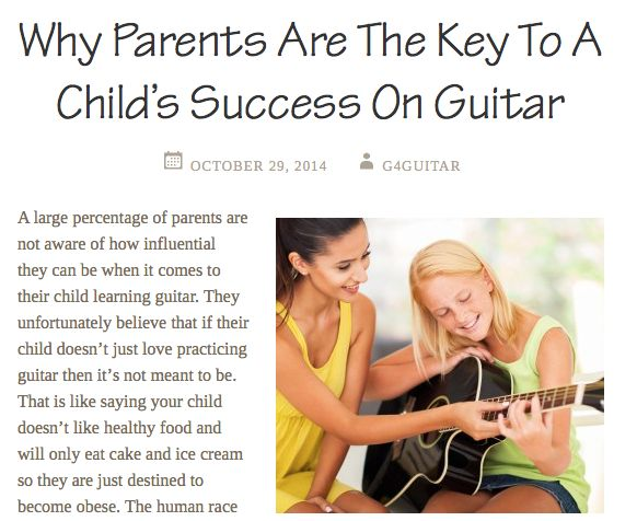 If you teach guitar or music to children you can probably relate.