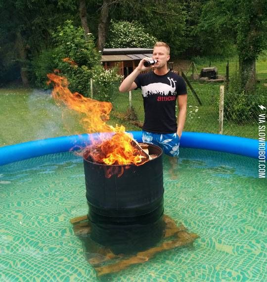 Water Heater Problems >> how to make a floating wood burning pool heater - Google Search | pool / water jive | Redneck ...