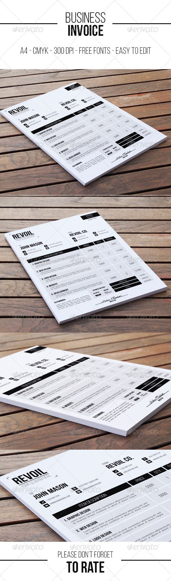 Business Invoice Proposals u0026 Invoices Stationery