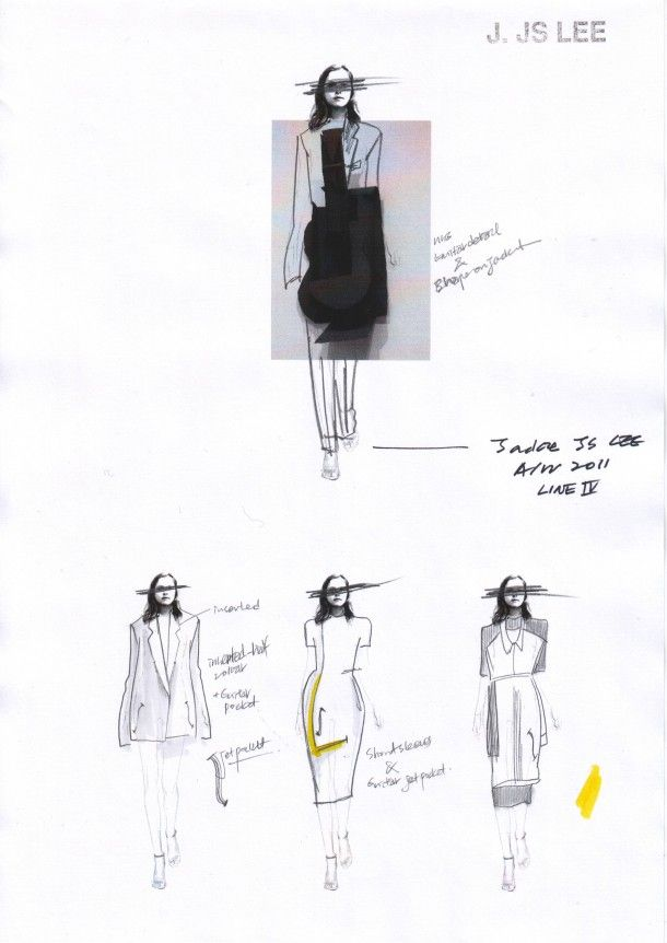 Fashion Sketchbook - fashion design sketches for a minimalist tailored…