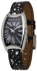 Bedat Women's BDT394.010.303 Number Three Black Dial Watch Bedat & Co.. $959.23. Durable sapphire crystal protects watch from scratches. Case diameter: 25.4 mm. Quartz movement. Stainless-steel case. Water-resistant to 165 feet (50 M)