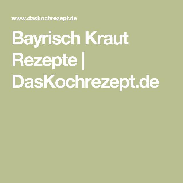 Bayrisch Kraut Rezepte | DasKochrezept.de