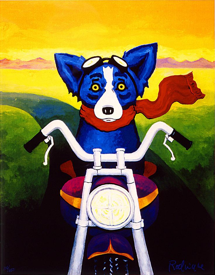 George Rodrigue's A Faster Breed