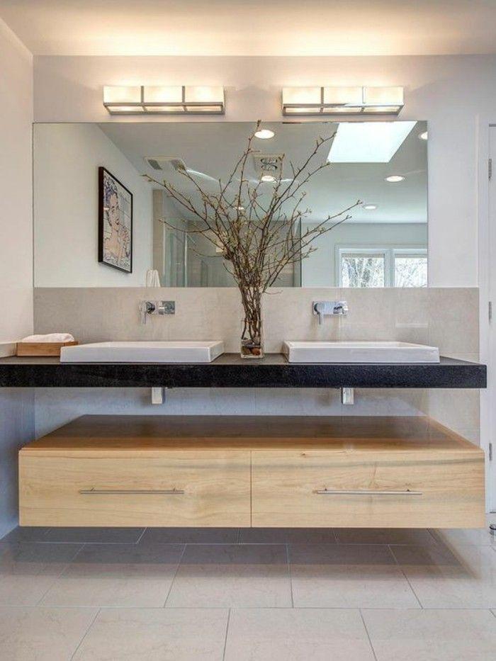 Les 25 meilleures id es de la cat gorie meuble double vasque sur pinterest - Meuble salle de bain avec vasque posee ...
