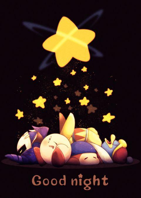 Kirby, Meta Knight, King Dedede and Bandana Waddle Dee. Good night. ¯︶¯