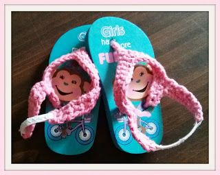 Costa's Crafty Corner: Project: Fix the Flip Flops.  Free pattern / tutorial on adding fitted flip flop top with elastic for infant/toddlers.